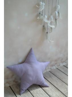 Poduszka gwiazdka - fioletowa