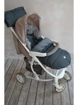 Śpiworek do wózka z futrem