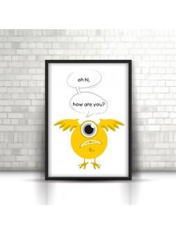 Plakat A4/A3 Żółty