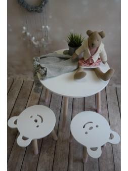 Stolik + taboret miś