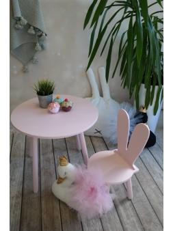 Okrągły stolik + krzeseło róż