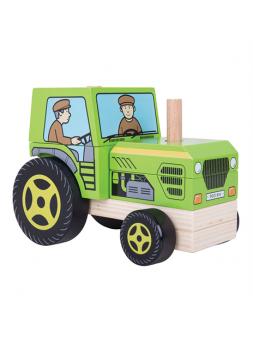 Traktor z klocków