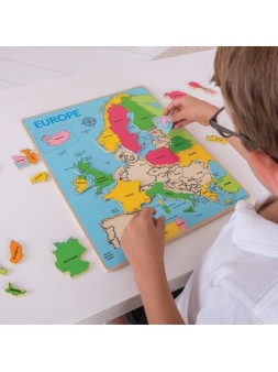 Drewniane puzzle Europa