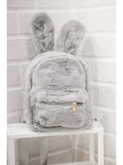 Plecak króliczek - szary