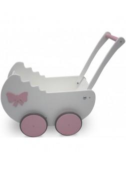 Wózek dla lalek biały