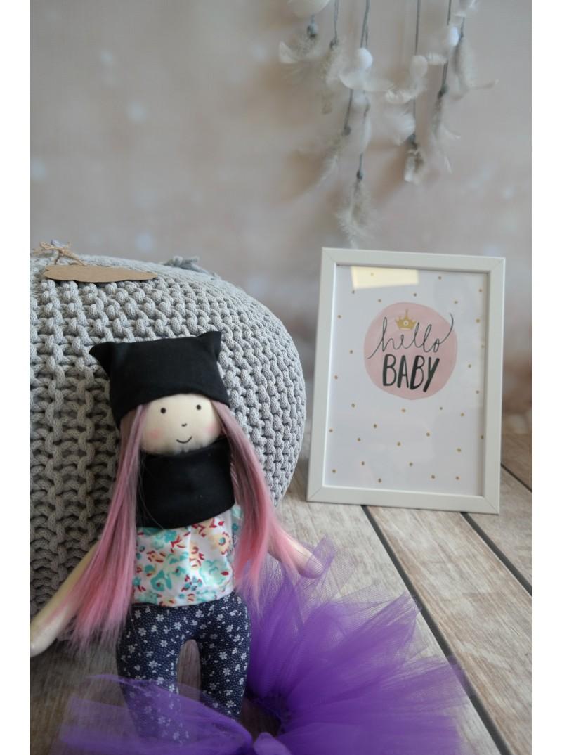 fioletowa lalka