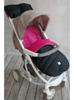 Śpiworek do wózka - różowy