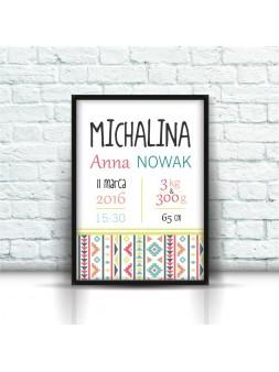 Metryczka Michalina A4
