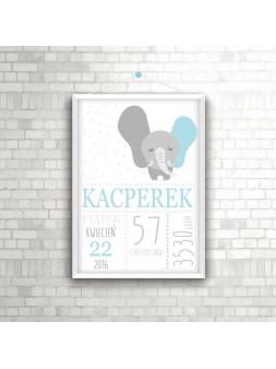 Metryczka Kacperek A4