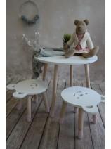 stolik i taboret miś