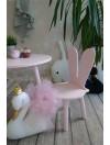 okrągły stolik dla dziecka z krzesełkami