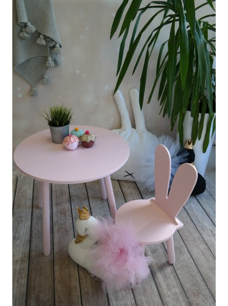 krzesełko królik różowe