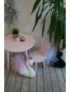 stolik z krzesełkiem królik różowy