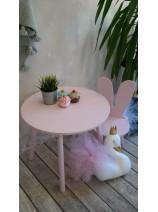 stolik z krzesełkiem komplet różowy