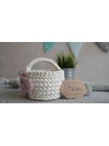 koszyczek ze sznurka bawełnianego