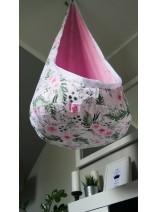 worek huśtawka w róże handmade