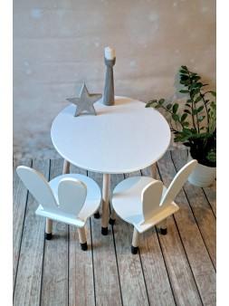 biało czarny stolik dla dzieci