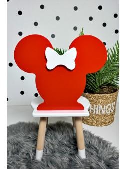 czerwone krzesło minnie
