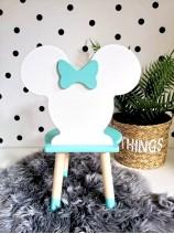 krzesełko minnie dla dziecka miętowe