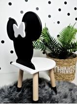 czarne krzesełko dla dzieci