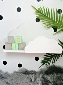półka chmurka dekoracyjna biała