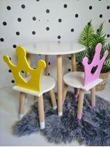 stolik i krzesełko dla księżniczki korona