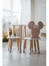 biało różowe meble do pokoju dziecięcego