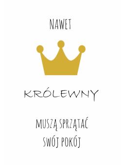 Plakat Królewna obrazek +...