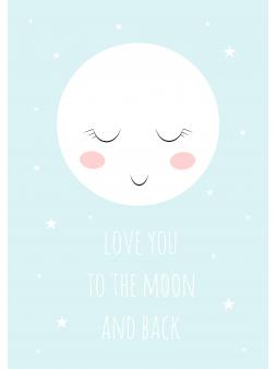 Plakat Księżyc obrazek +...