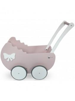 Drewniany wózek dla lalek,...