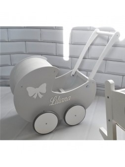 Wózek dla lalek z budą...