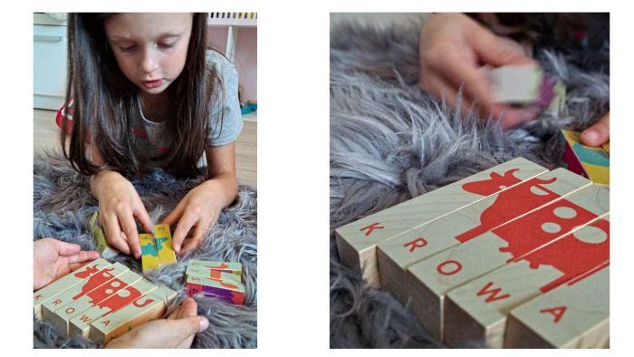 Klocki drewniane z wyrazami - ciekawe zabawki edukacyjne